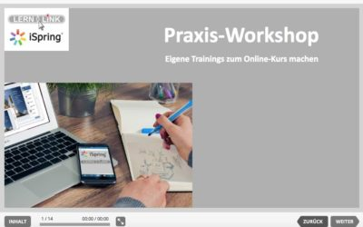 Praxis-Workshop: Eigene Trainings zum Online-Kurs machen